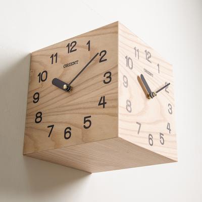 오리엔트 OT815 내츄럴브라운 인테리어 삼면벽시계