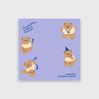 Dancing bear-purple(떡메모지)