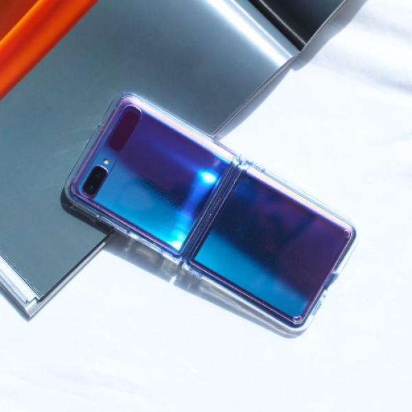 [그래비] Z플립 UV 클리어 하드 젤리 케이스