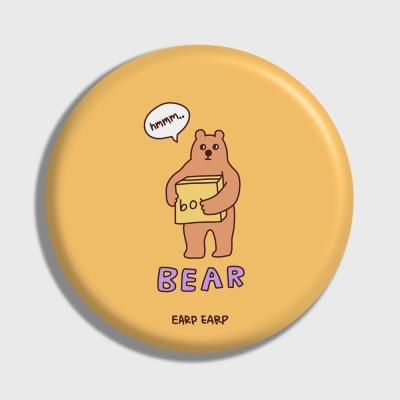 [어프어프] 손거울 Bear box-mustard