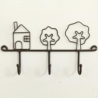 빈티지 하우스 훅 선반(블랙)