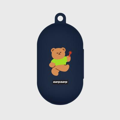 dancing bear-navy(Buds jelly case)