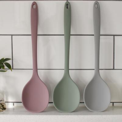 파스텔 실리콘 요리 왕스푼 - 3color