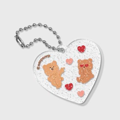 Heart angel bear(글리터키링)