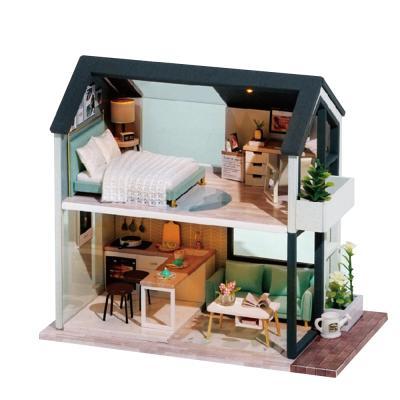 DIY 미니어처 노르딕 하우스 - 블랙