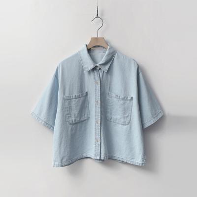 Olga Denim Crop Shirts