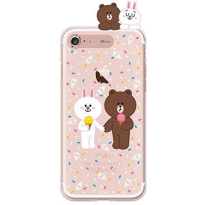 [SG DESIGN] iPHONE7 PLUS 라인프렌즈 ICE CREAM LIGHT UP Case - ROSE GOLD(소프트/라이팅)