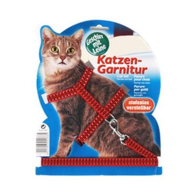 펫라이프 트릭시 고양이 하네스 세트 (야광 레드)