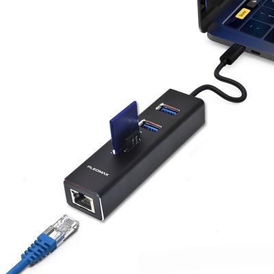 플레오맥스 멀티허브 USB3.0 2포트+TFSD카드리더+LAN