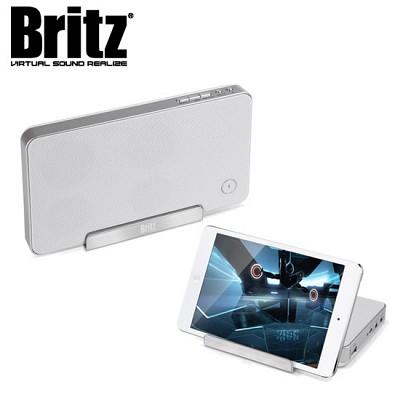 [브리츠] 무선 블루투스 스피커 BA-V400 Lightning (스마트폰 충전 기능 / 통화가능 마이크 탑재 / 3.5mm 외부연결 AUX단자 / USB전원 사용가능 / 스마트폰 거치대)