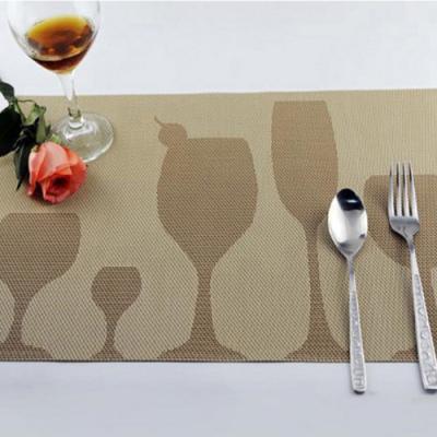 와인잔 모양 테이블 매트 1개(색상랜덤)