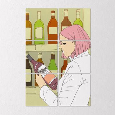ib477-멀티액자_와인전문가
