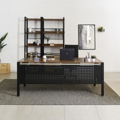 래티코 럭스 철제 LPM 사무용 책상 1800x800 (가림판)