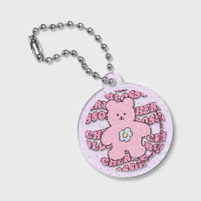 Circle Blossom bear friends(글리터키링-퍼플)