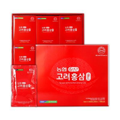 [쇼핑백증정]농협 6년근 고려홍삼 골드 70ml × 60포
