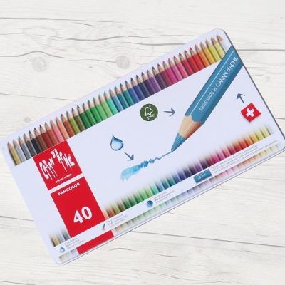 까렌다쉬 전문가용 수채색연필-팬컬러 40색 메탈박스