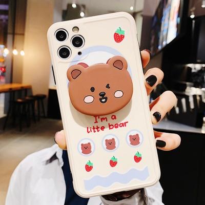 아이폰11 PRO X SE2 8 7 실리콘 그립톡 케이스 캐릭터