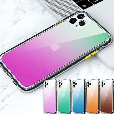 아이폰12 미니 pro max 슬림 컬러젤리 투명 케이스