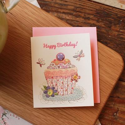 꽃다운,생일축하 미니카드 / 010-SG-0107