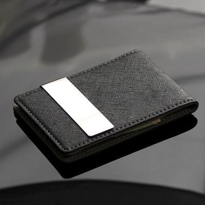 리더플랜 가죽 디자인 머니클립 지갑 고급형 카드지갑