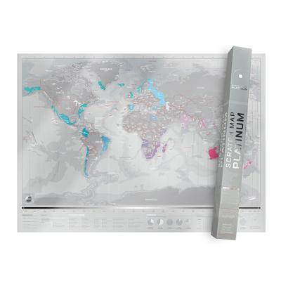 [럭키스] 영국 정품 스크래치 맵 세계지도 플래티넘