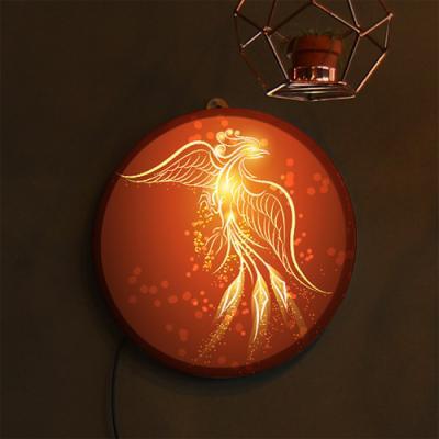 ne595-LED액자25R_풍수승천하는불새그림