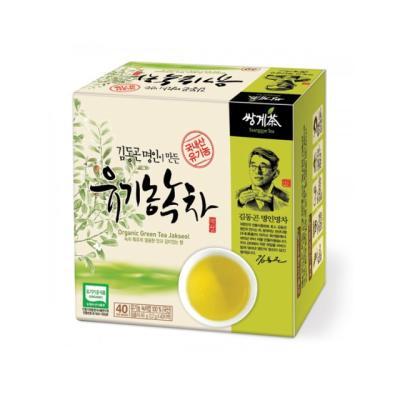 [쌍계명차] 일반티백 유기농 녹차 40티백