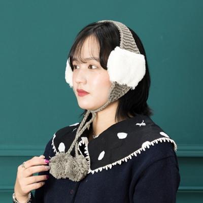 [지오바니]귀마개 퐁퐁귀도리 귀달이/귀도리/털모자