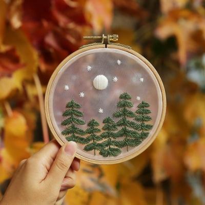 프랑스자수 밤의 숲 수놓기 온라인 취미 클래스 FE-K-0006