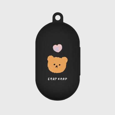 Dot love and bear-black(Buds jelly case)