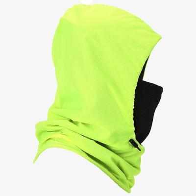 엠씨엔 옐로우 그린 후드마스크 넥워머 방한용품