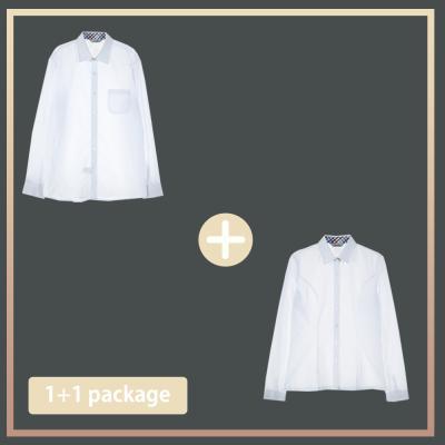교복몰 컬러체크 프리미엄 셔츠 1+1 패키지