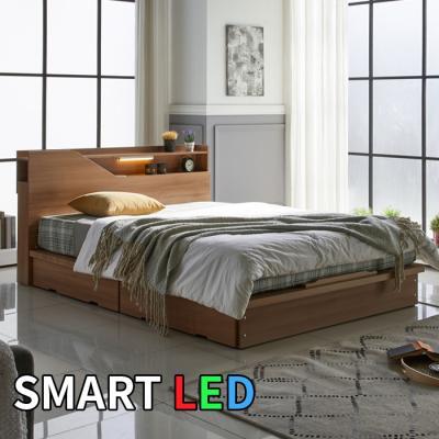스마트 LED 서랍 침대 퀸 KC173Q