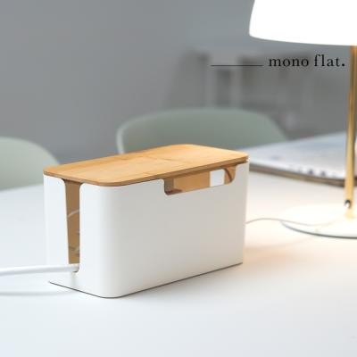모노플랫 인테리어 우드 멀티탭 정리함 전선정리함