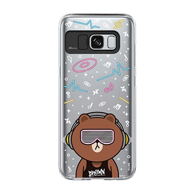 Galaxy S8 BROWN CLUB Light UP Case