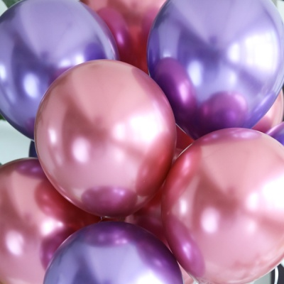 천장장식 크롬풍선(헬륨효과)세트-바이올렛쿼츠