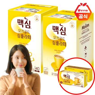 맥심 모카골드 심플라떼 140T 2개+20T(맛랜덤)