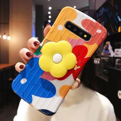 갤럭시S9 S8 플러스 플라워 스마트톡 실리콘 폰케이스