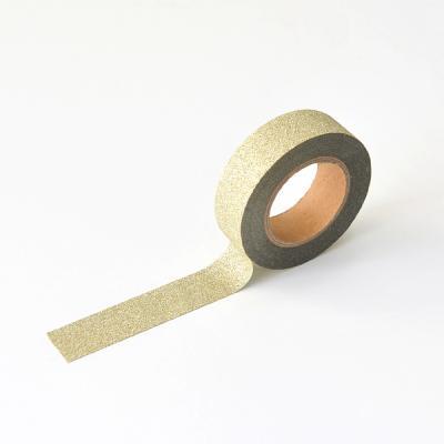 왈가닥스 글리터 마스킹테이프 - 232 Gold Diamond