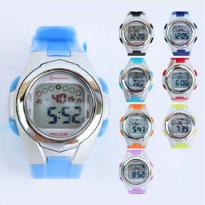 포포팬시 컬러풀 디지털 손목시계 Small