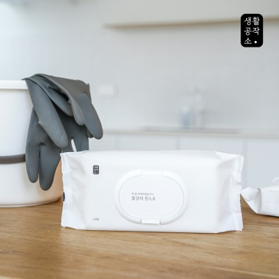 [생활공작소] 물걸레 청소포 24매 x 1개
