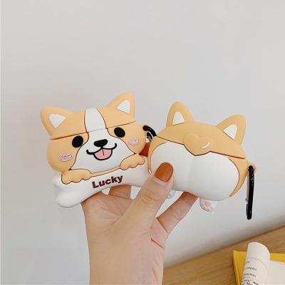 에어팟 프로 케이스 3세대 강아지 캐릭터 실리콘 고리
