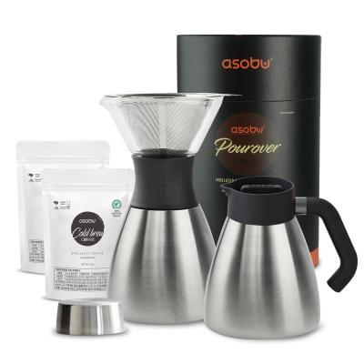 아소부 NEW 푸어오버 커피메이커 (핸들키트+원두2팩)