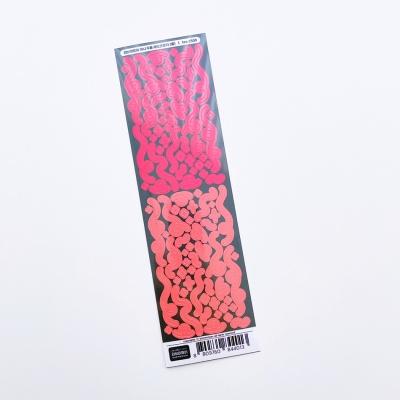 러브미모어 미니두들 레드오렌지 홀로그램 씰스티커