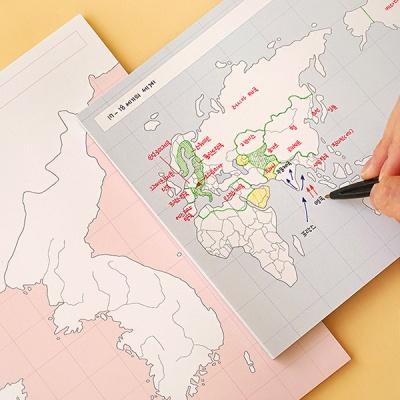 <혼자공부> 지도 메모패드 (50매)