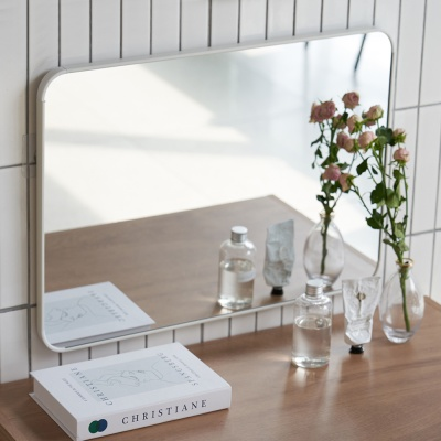 무타공 붙이는 벽걸이 사각 거울