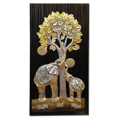 홈스타일링 돈나무 코끼리 부조액자CH1485736