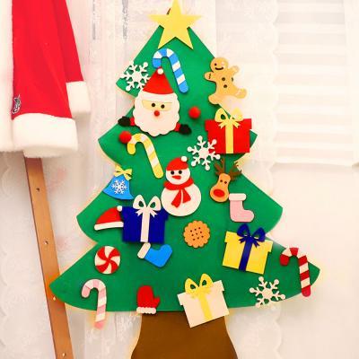 크리스마스 펠트 벽트리 만들기세트 (산타)