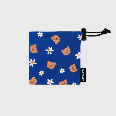 Dot flower bear-blue(미니 스트링)