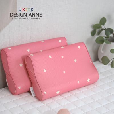 [디자인엔] 알러지케어 스타 아동메모리폼베개-핑크